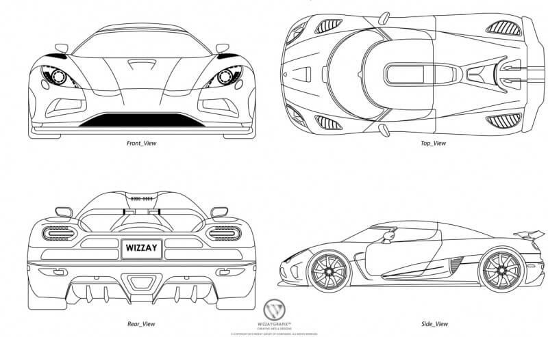 Koenigsegg Agera R чертеж