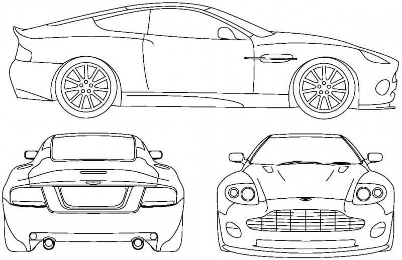 Aston Martin Vanquish чертеж