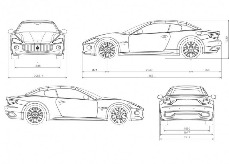 Maserati GranCabrio чертеж