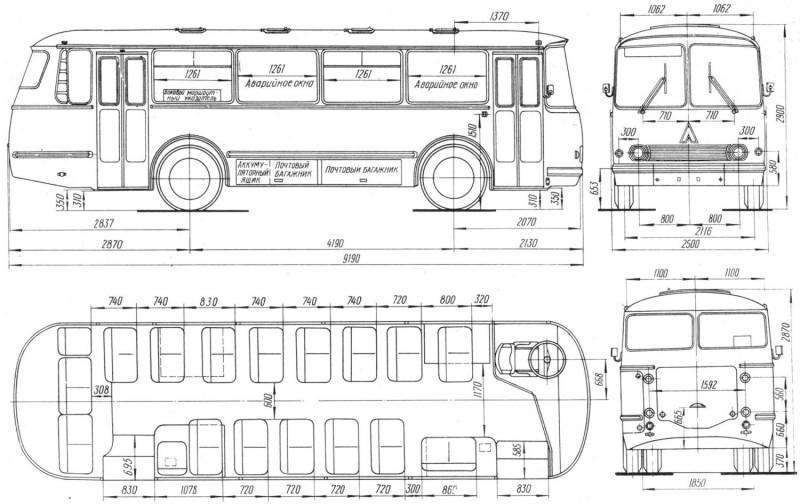 ЛАЗ 695 чертеж