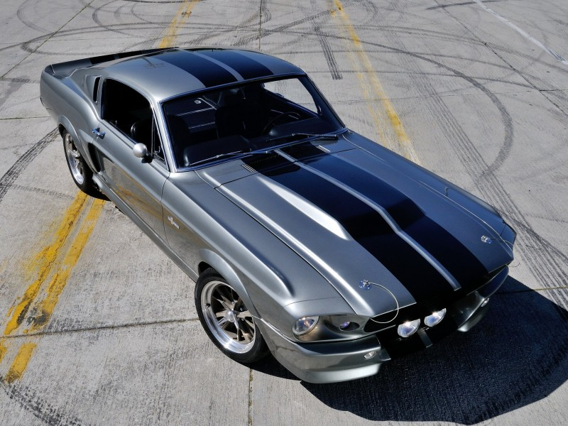 Ford Mustang Shelby вид сверху