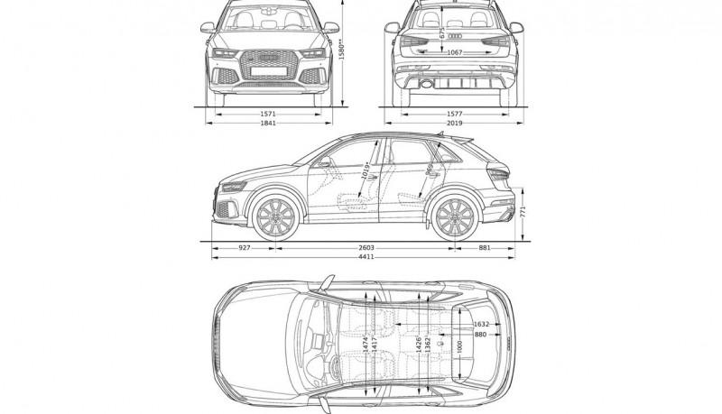 Audi RS Q3 чертеж