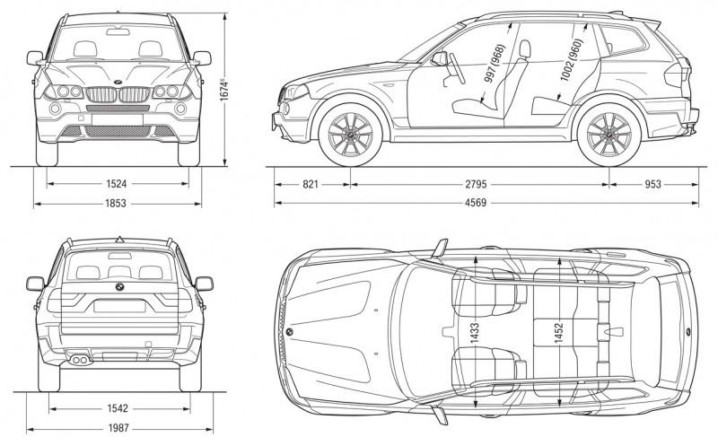 BMW X3 чертеж