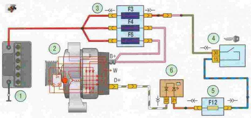 Электрическая схема Урал-5557