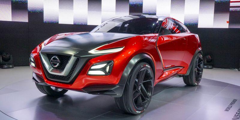 Кроссовер спортивного типа Nissan Gripz Concept на автомобильной выставке в Германии