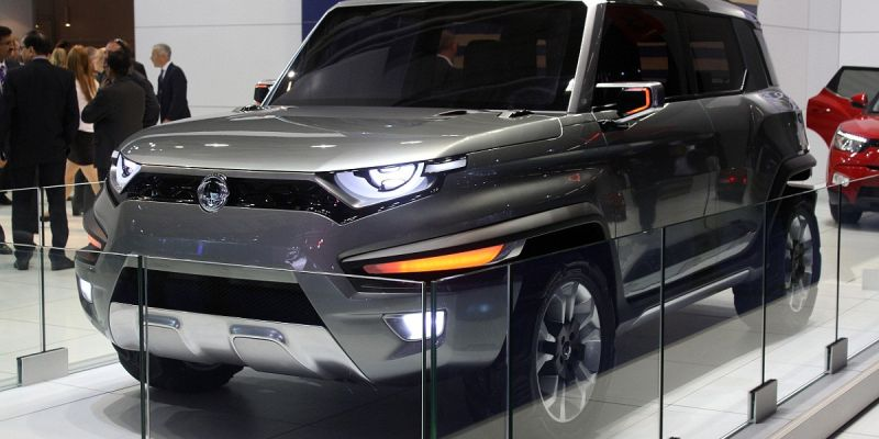 Самый необыкновенный внешний вид концептуального автомобиля SsangYong XAV-Adventure