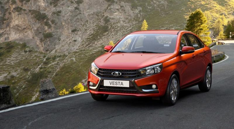 Front view of Lada Vesta