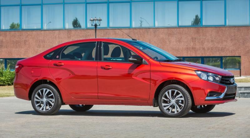 Side view of Lada Vesta