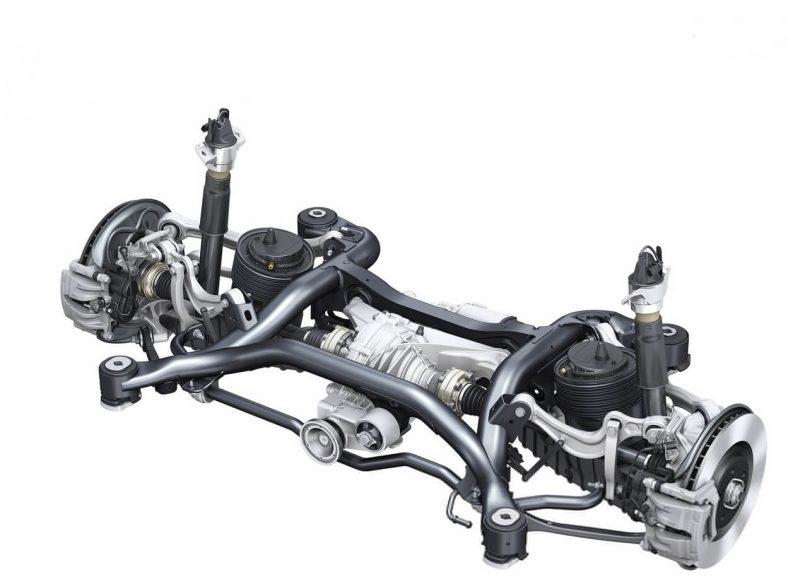 Audi Q7 задняя подвеска