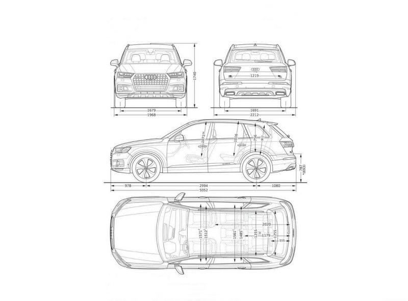 Audi Q7 чертеж