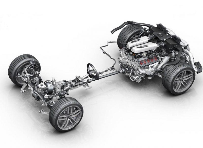 Audi R8 трансмиссия