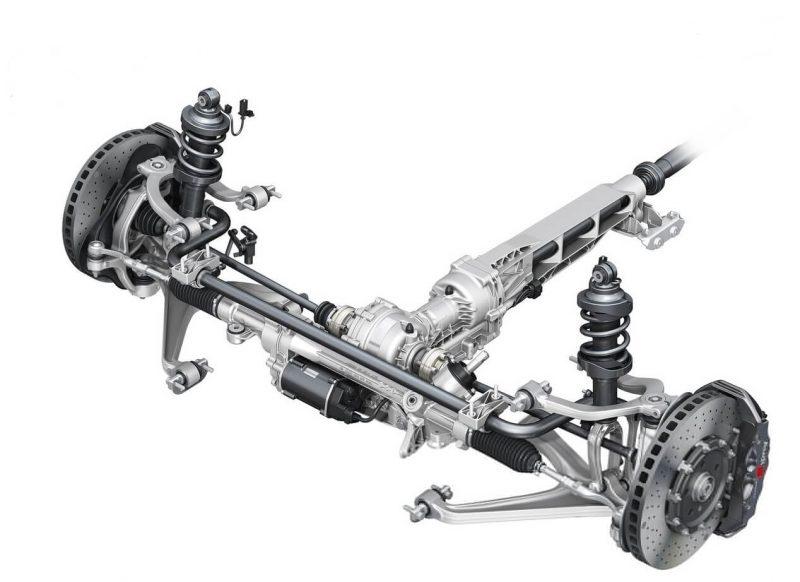 Audi R8 задняя подвеска