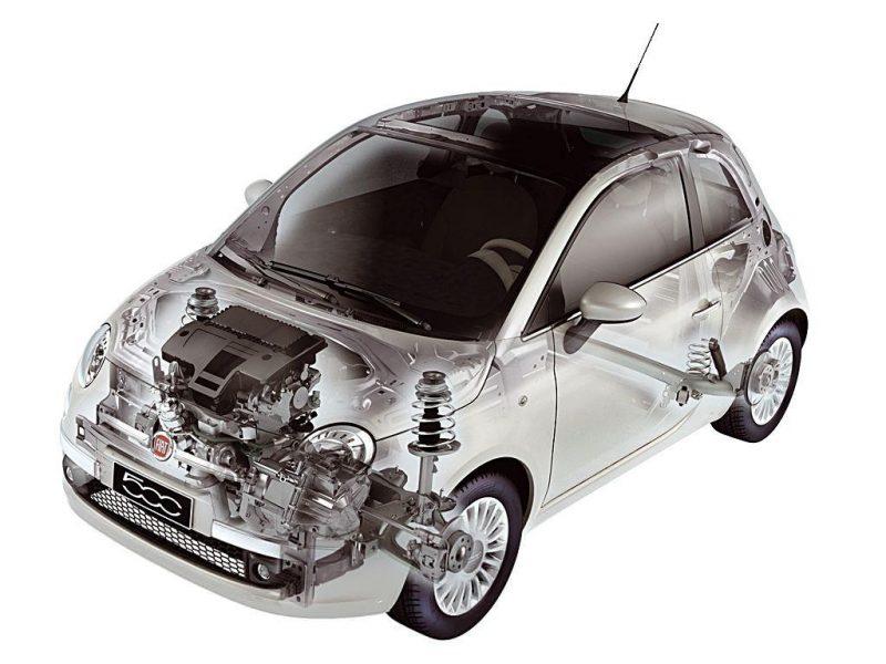 Подвеска и двигатель Фиат 500