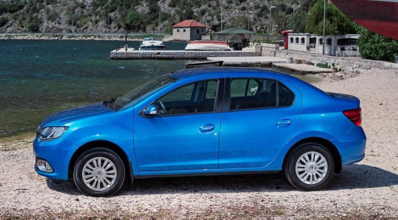 Renault Logan вид сбоку