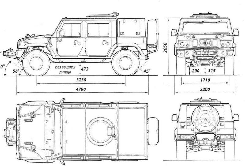 Чертеж ГАЗ-2330