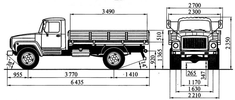 ГАЗ-3309 чертеж