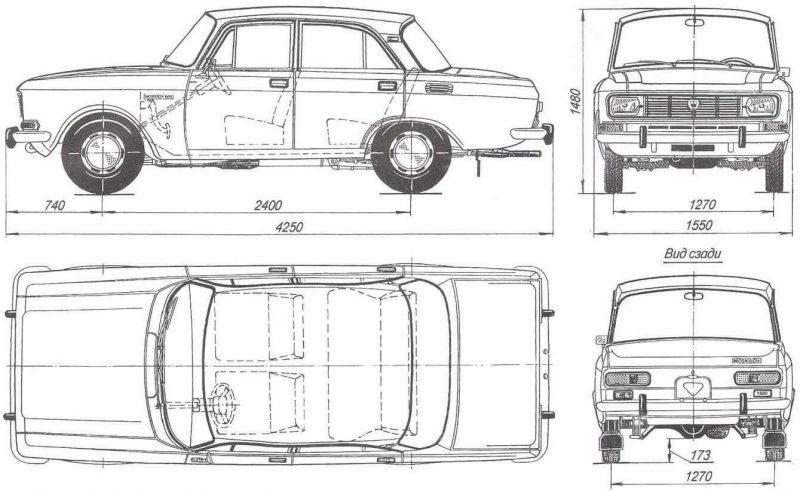 Москвич-2140 чертеж