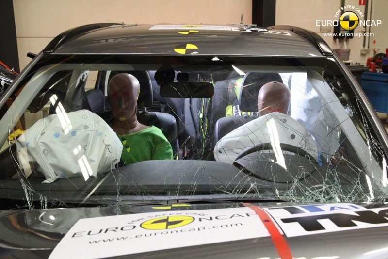 Mitsubishi Outlander краш-теста Euro NCAP