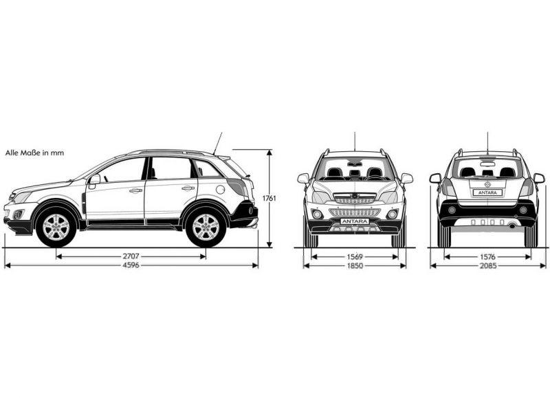 Чертеж Opel Antara