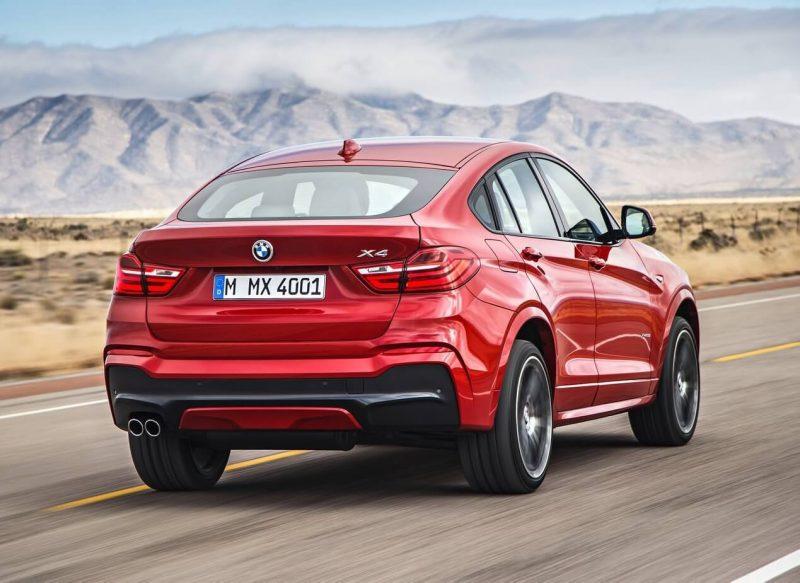 Вид сзади BMW X4