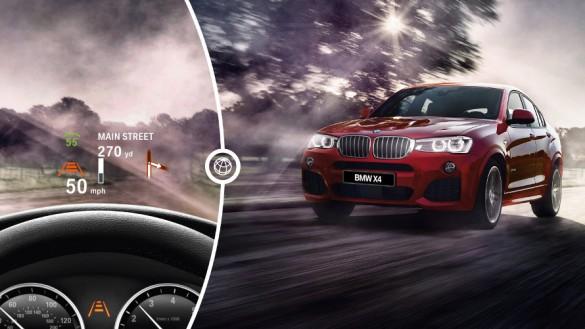Проекционный дисплей BMW X4
