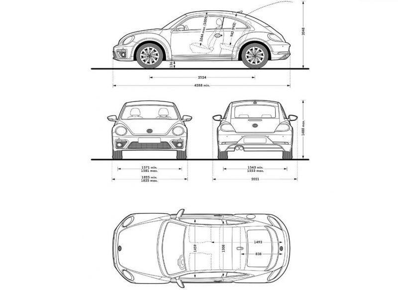 Схема Volkswagen Beetle