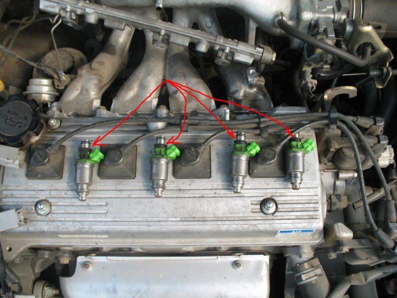 Самостоятельный ремонт, замена форсунки двигателя