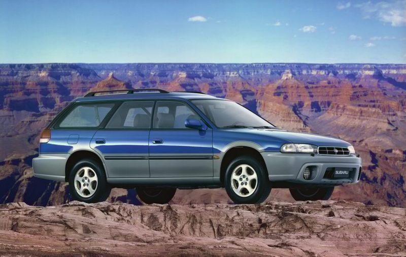 Вид сбоку Subaru Legacy Outback