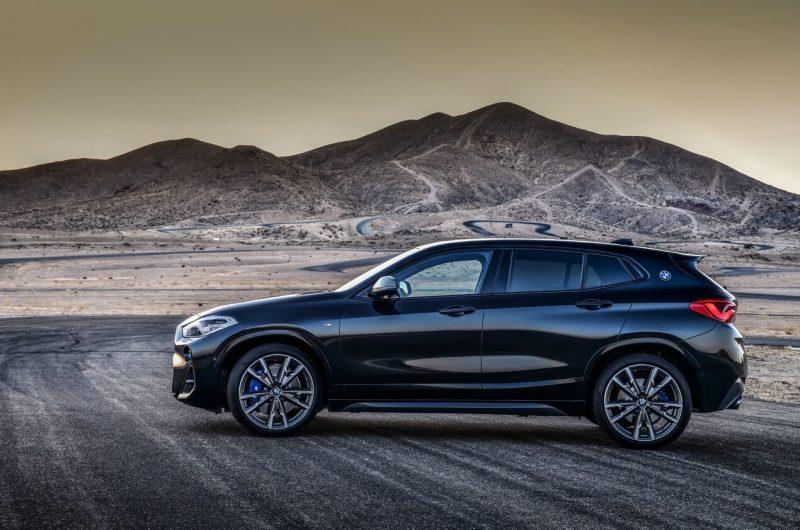 Вид сбоку BMW X2