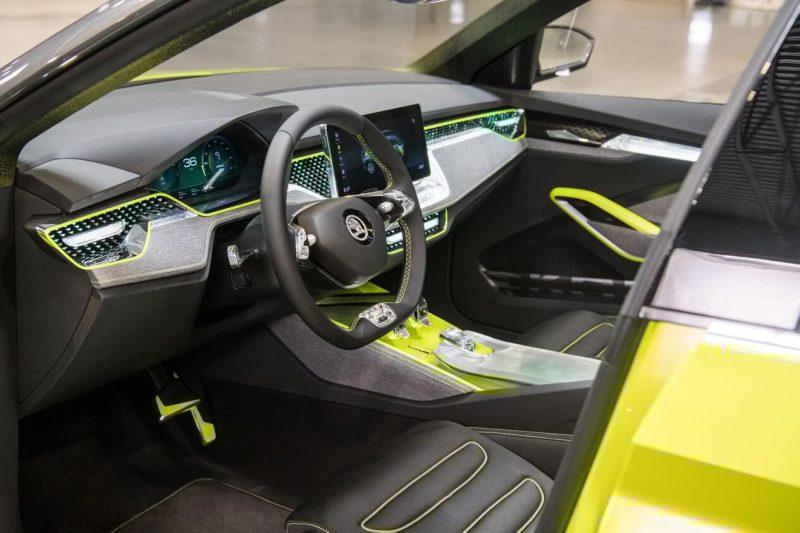 Салон Škoda Vision X