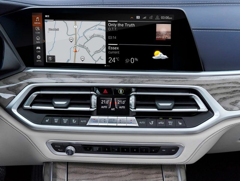 Цифровой экран BMW X7