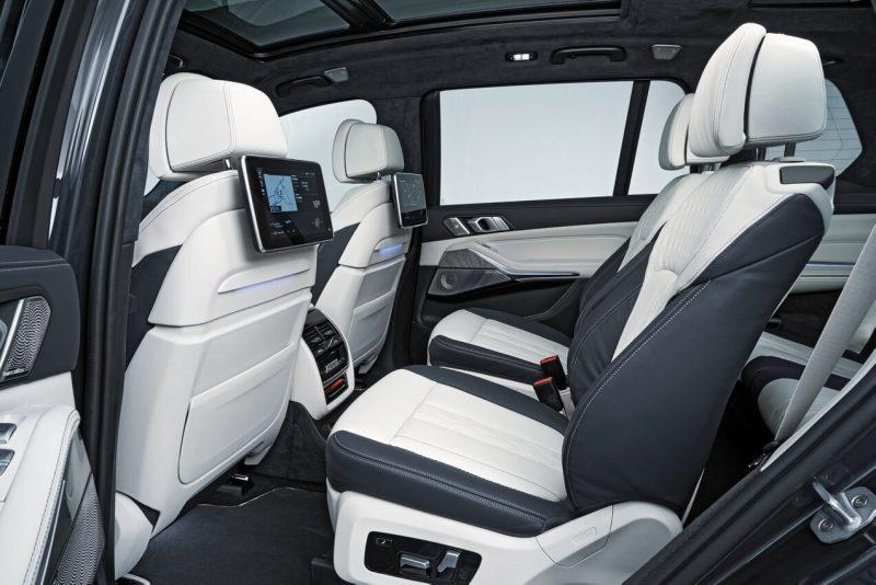 Задний ряд BMW X7