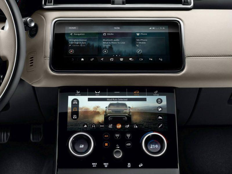 Проекционный дисплей Range Rover Velar