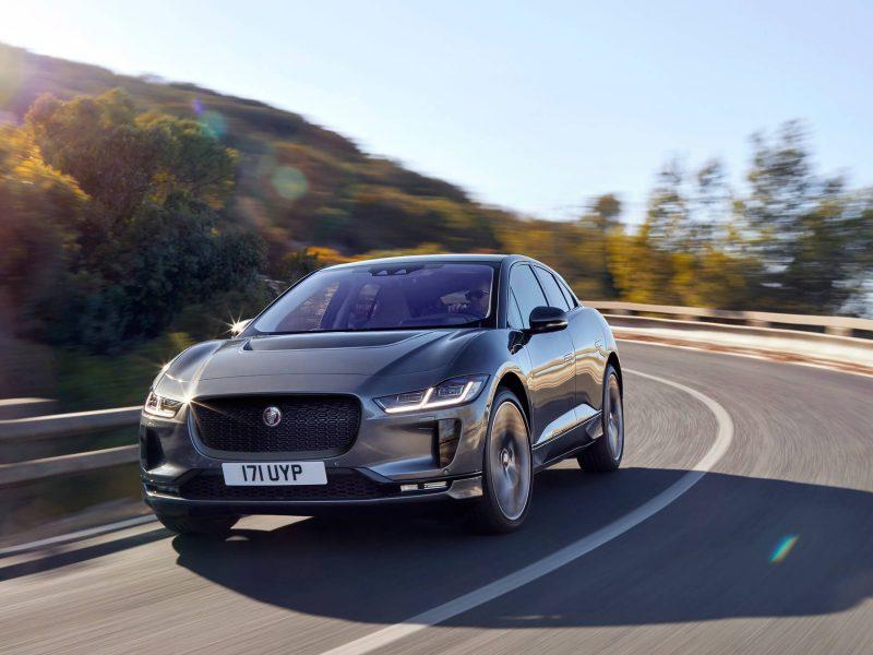 Вид спереди Jaguar I-Pace