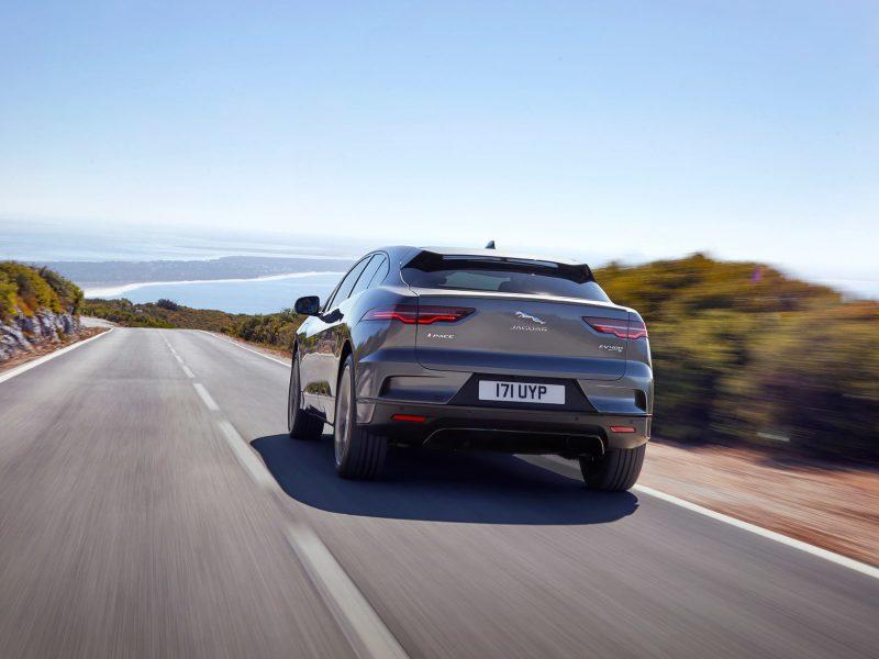 Вид сзади Jaguar I-Pace