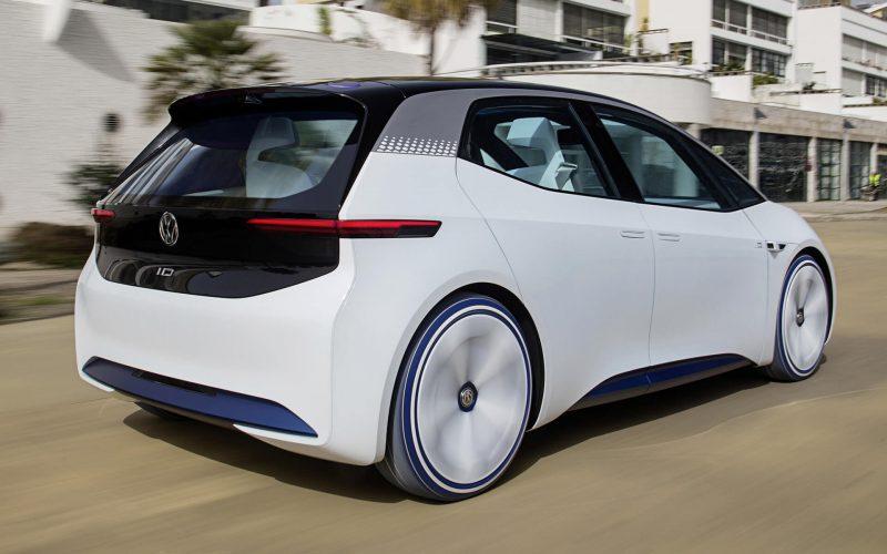Вид сзади Volkswagen ID.3