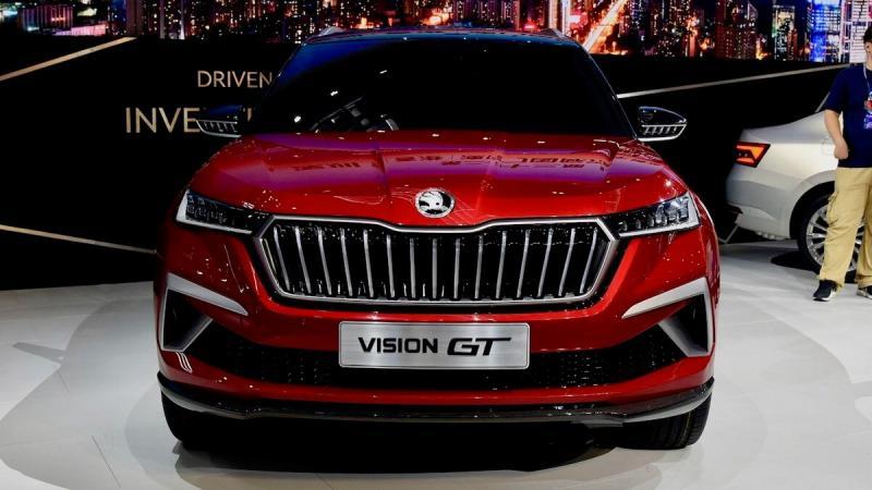 Skoda Vision GT вид спереди