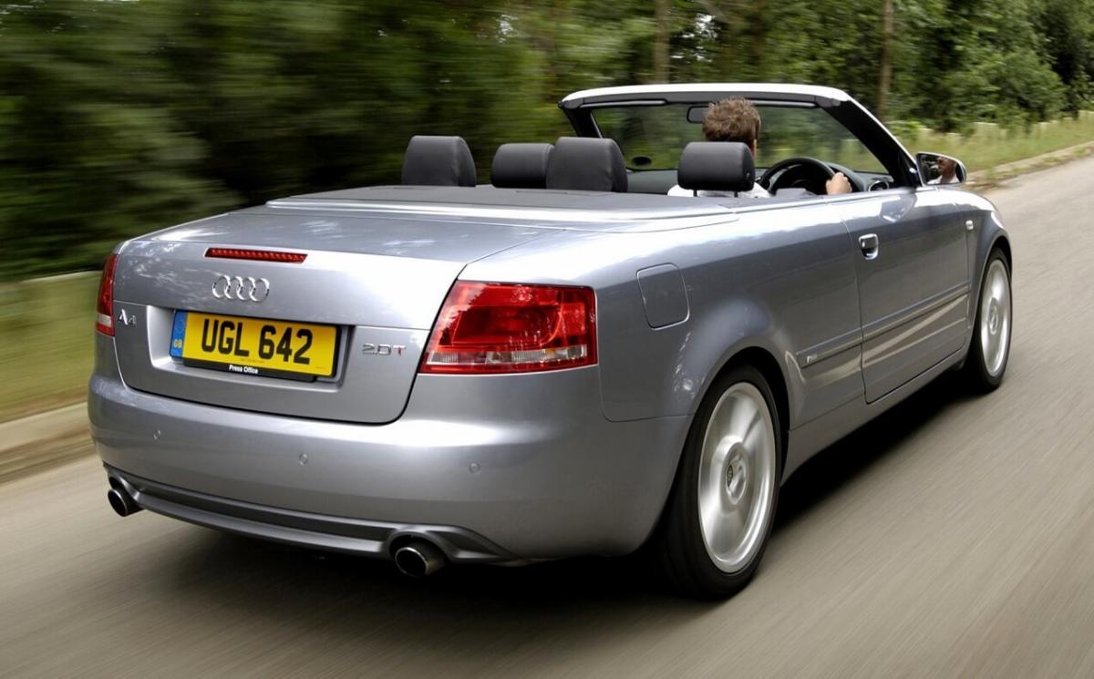 Вид сзади Audi A4 (B7)