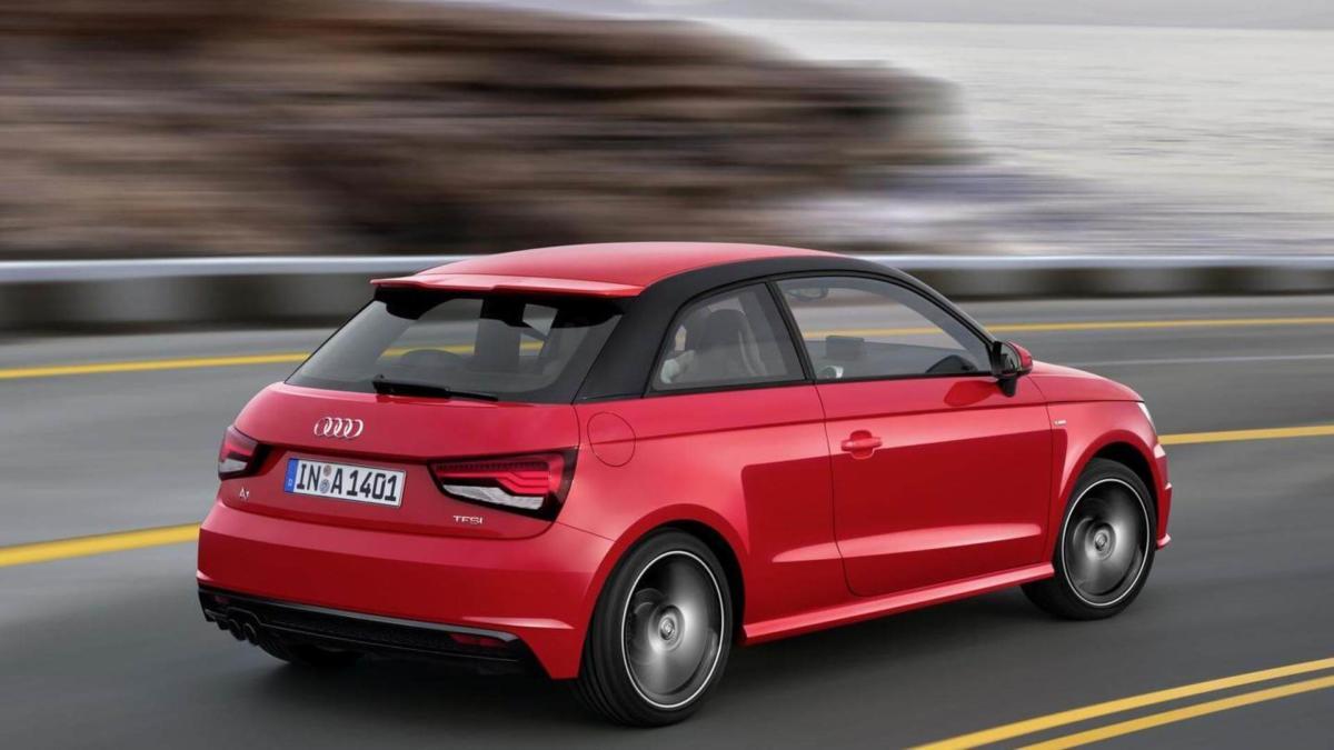 Audi A1 вид сзади