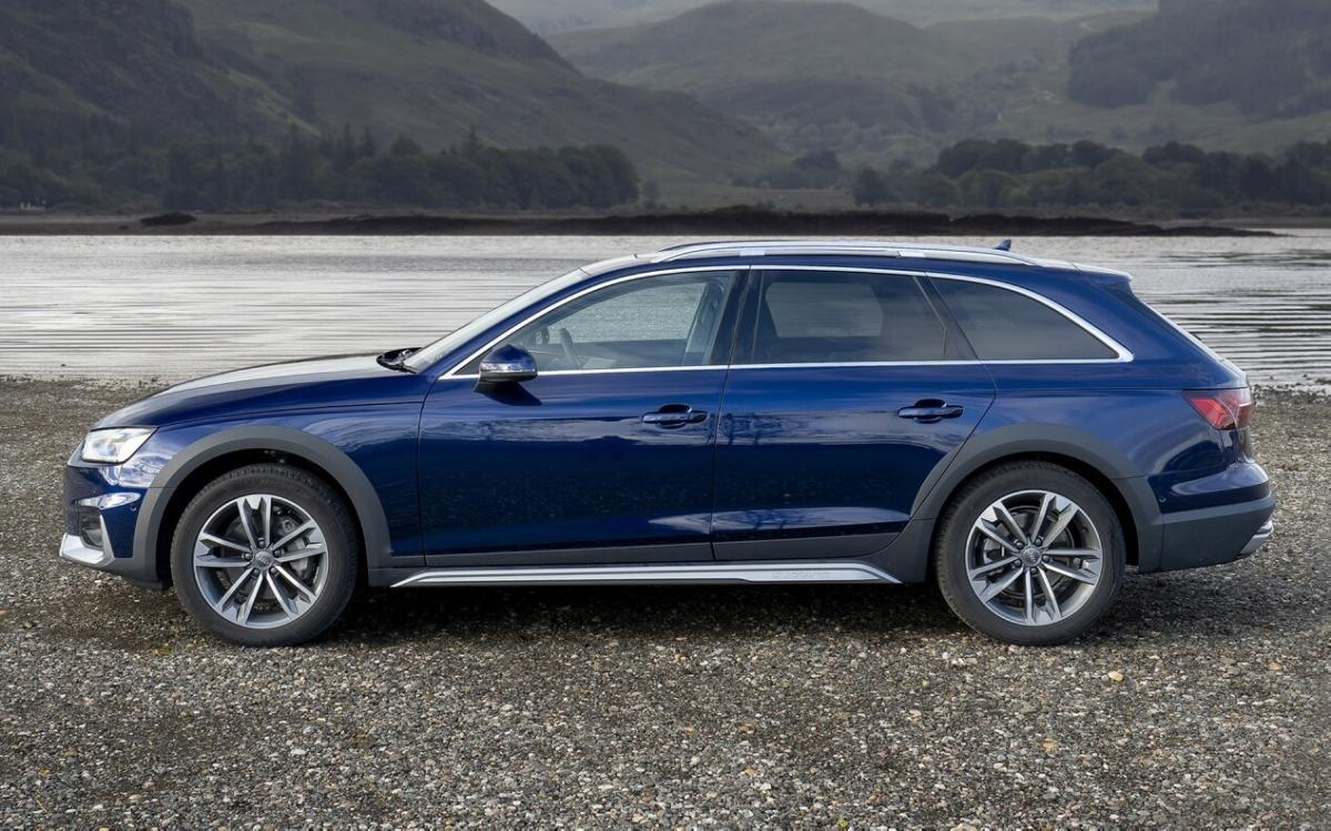 Вид сбоку Audi A4 (B9)