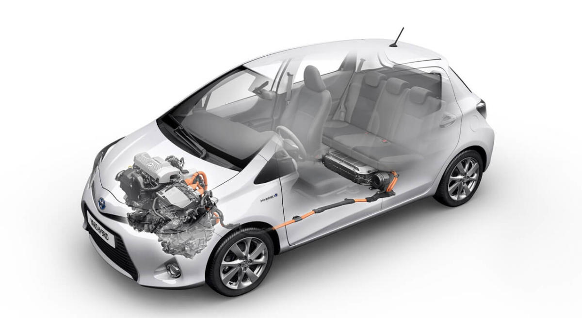 Двигатель Toyota Yaris Hybrid