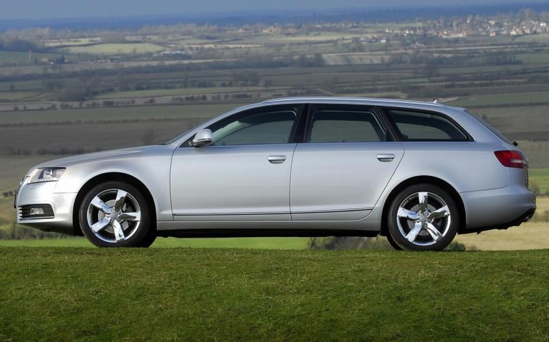 Вид сбоку Audi A6 (C6)