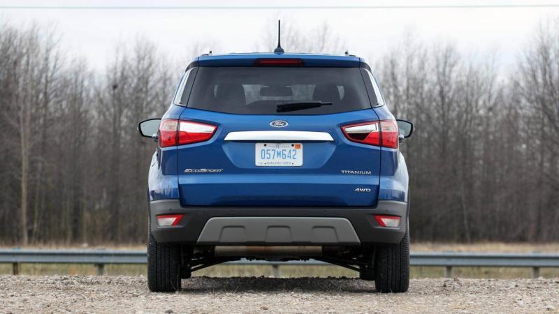 Вид сзади Ford EcoSport
