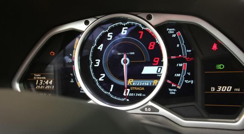 Спидометр Lamborghini Aventador