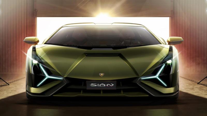Lamborghini Sian вид спереди