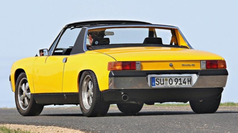 Вид сзади Porsche 914