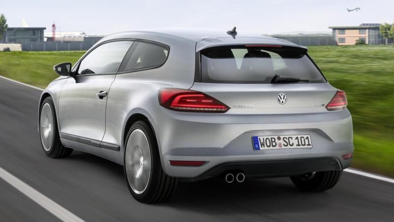 Volkswagen Scirocco вид сзади