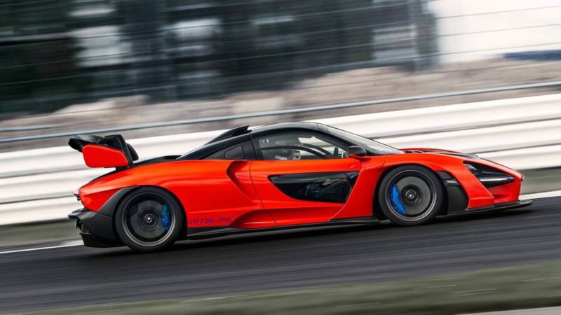 McLaren Senna вид сбоку