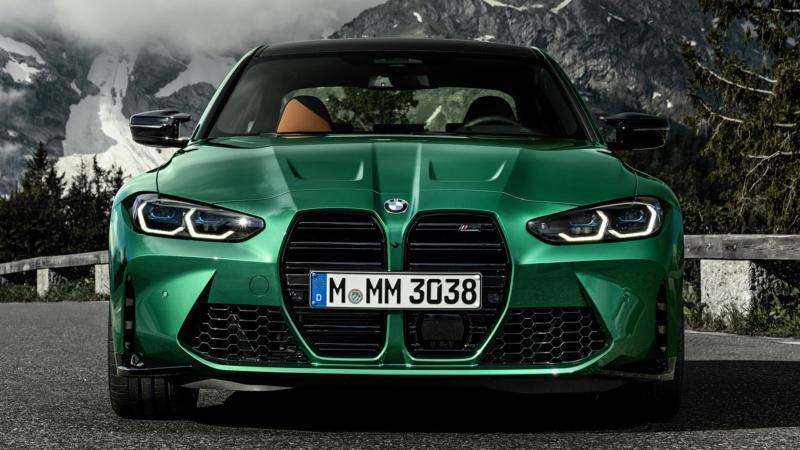 BMW M3 Competition вид спереди