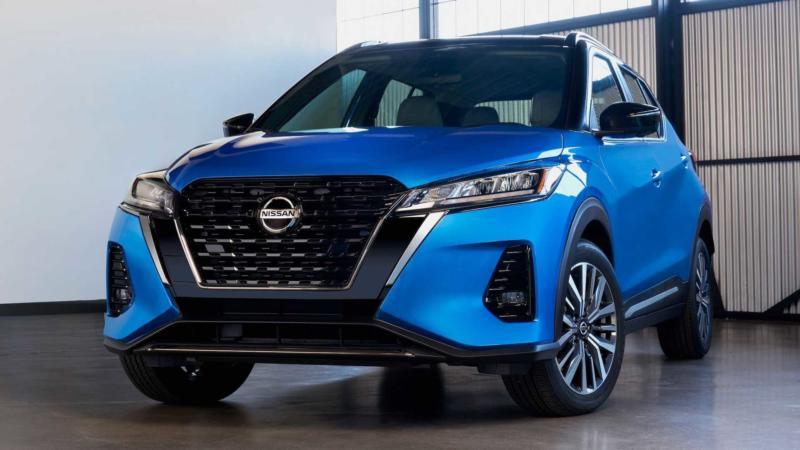 Вид спереди Nissan Kicks 2021